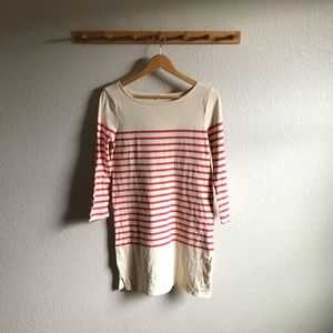 J. Crew Striped Longsleeve Dress